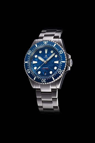 Axios ironclad deep blue meteorite automatic gents divers watch