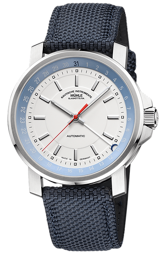muhle glashutte 29er hands date white dial mens watch