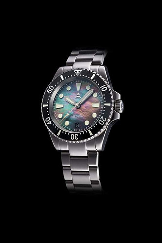 Axios ironclad black pearl automatic gents divers watch