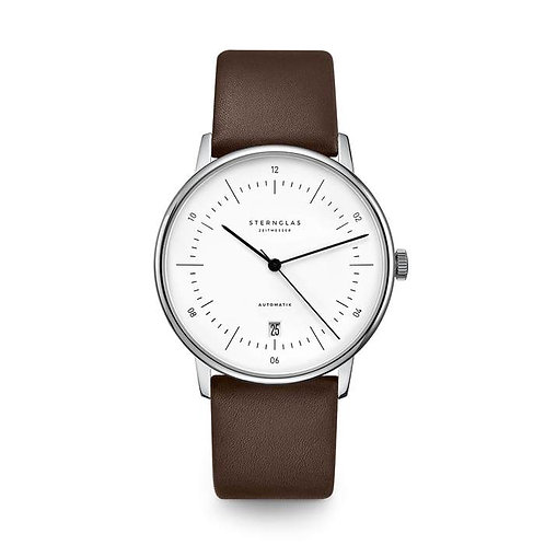 Sternglas Naos white dial automatic watch