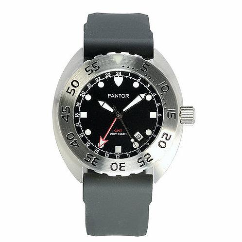 Pantor nautilus quartz black turtle divers watch