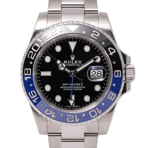 Rolex GMT-Master II Batman 40mm Black and Blue Bezel Oystersteel Watch Automatic Watch