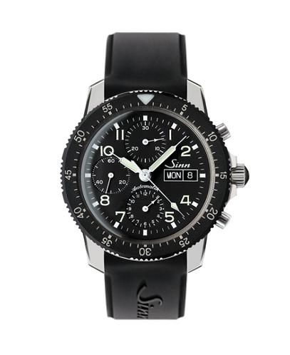 Sinn 103 St automatic wristwatch on black silicone starp