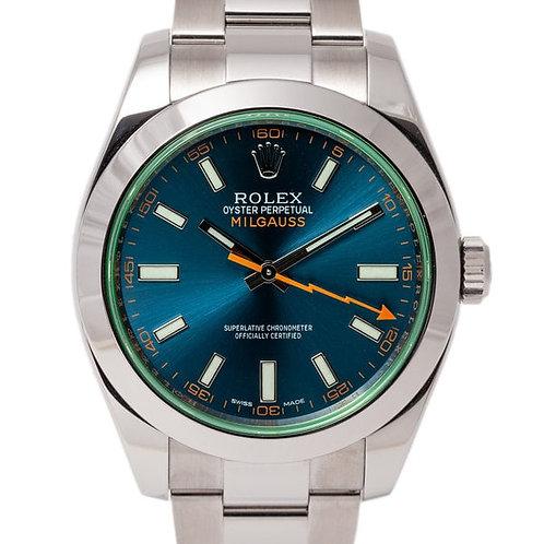 Rolex Milgauss 40mm Blue Dial Oystersteel Bracelet Automatic Waterproof Watch