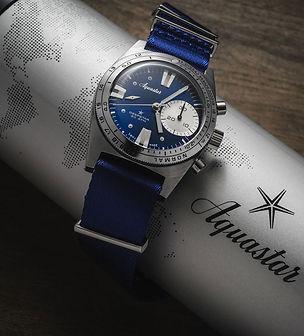 Aquastar chronograph deepstar divers watch