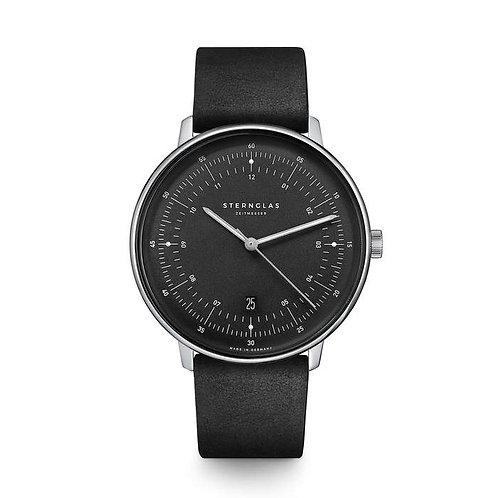 Sternglas Hamburg quartz graphite dial watch