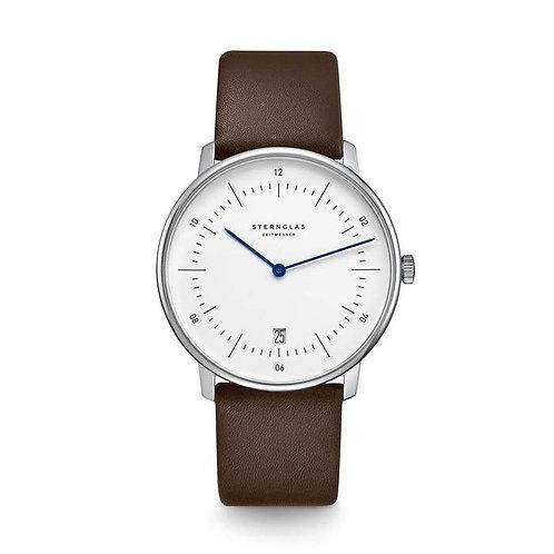 Sternglas Naos quartz white dial watch