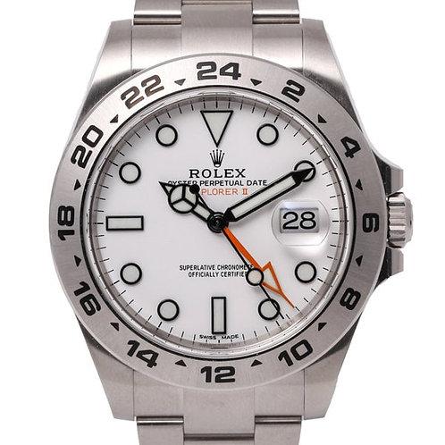Rolex Explorer II White Dial 42mm Oystersteel Bracelet Automatic Waterproof Watch