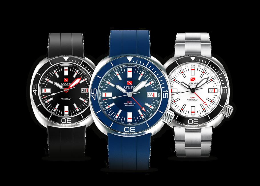 Ligure Scuba Diver Watches