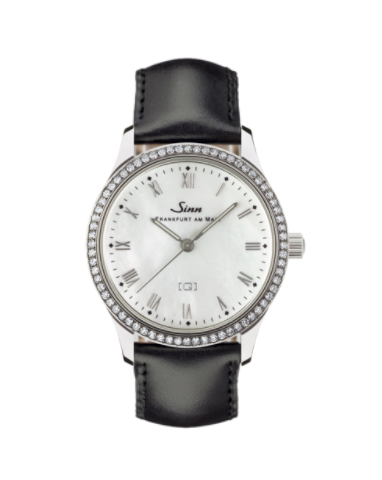 Sinn - 434 TW68 WG Mother of Pearl W - Leather Strap Options - 434.031