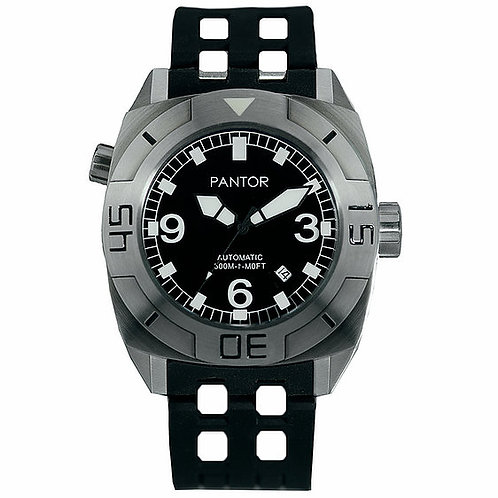 Pantor seal on rubber strap gents divers watch