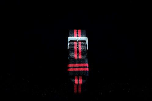 Nylon Nato Strap - Black/Red