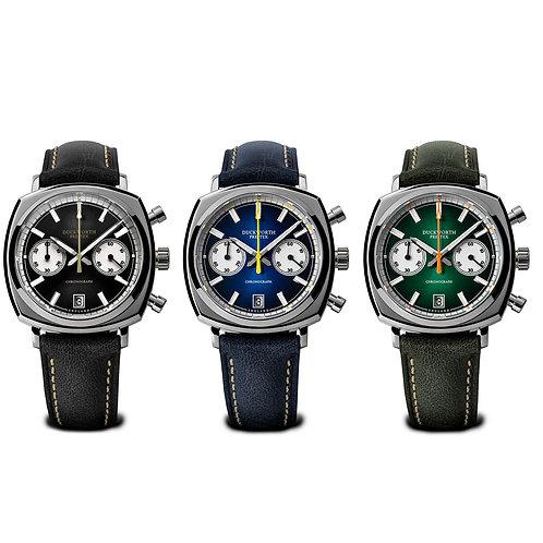 Duckworth Prestex Limited Edition 3 set of Chronograph watches