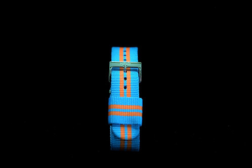 Nylon Nato Strap - Argentina Blue/Orange