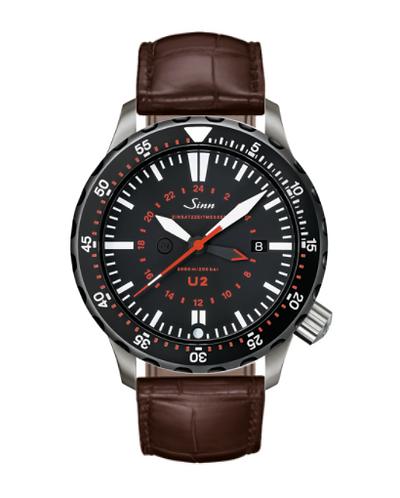 Sinn - U2 SDR (EZM 5) with Tegiment - Brown Leather Strap option - 1020.050
