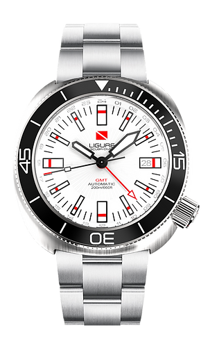 Ligure Scuba Diver - White GMT
