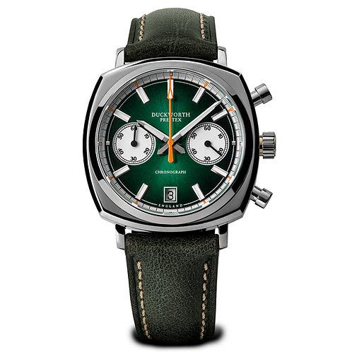 Duckworth Prestex Green Dial 42mm Chronograph Watch