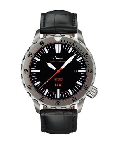 Sinn - UX (EZM 2B) with Tegiment - Black Leather Strap options - 403.040