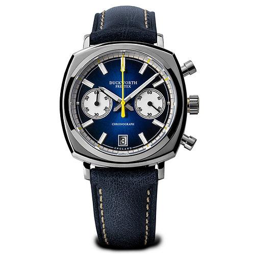 Duckworth Prestex Blue Chronograph 42mm watch