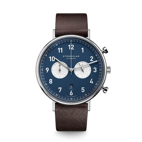 Sternglas Chronograph blue dial watch