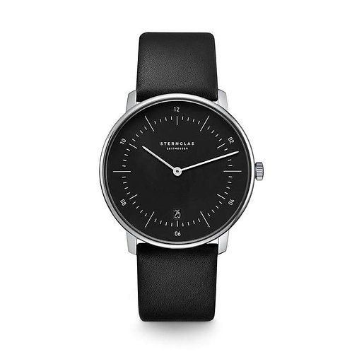 Sternglas Naos black dial quartz watch