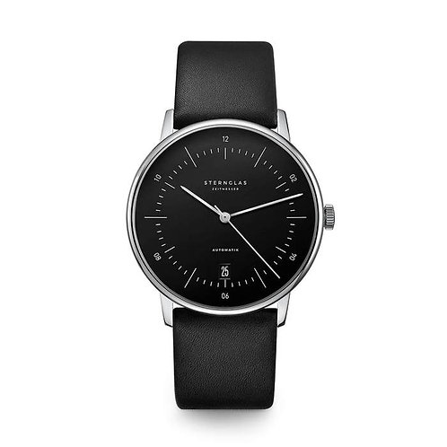 Sternglas Naos black dial automatic watch