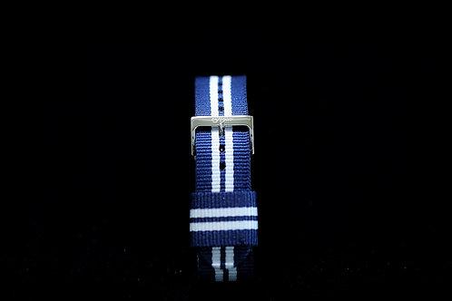Nylon Nato Strap - Navy Blue/White