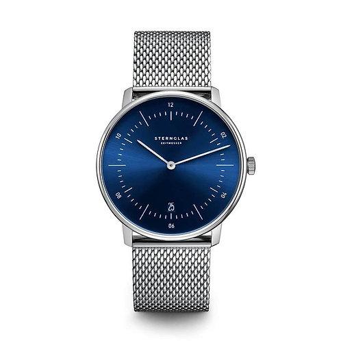 Sternglas Naos blue dial quartz watch