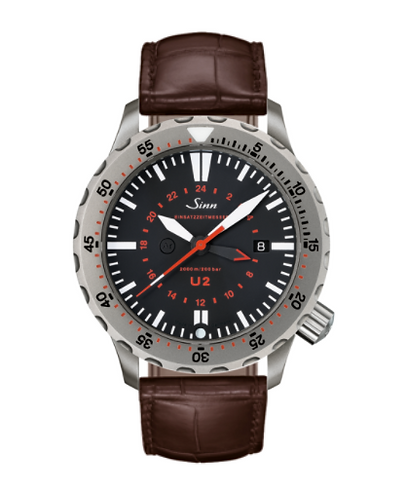 Sinn - U2 (EZM 5) with Tegiment option - Brown Leather Strap option 1020.030