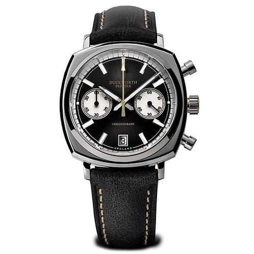 Duckworth Prestex Chronograph Black Dial 42mm Watch