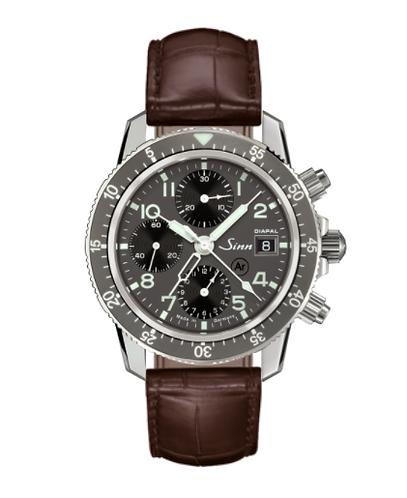 Sinn 103 St Diapal Brown Leather Strap Mens Wristwatch