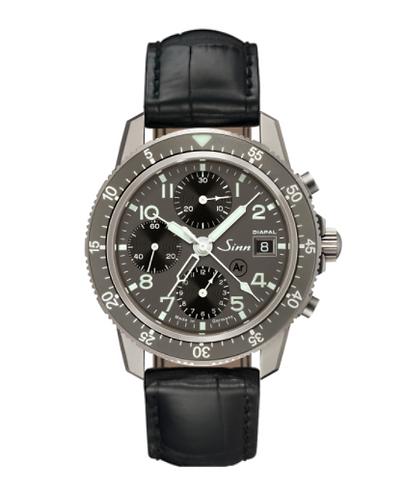 Sinn - 103 Ti DIAPAL - Black leather strap options - 103.078