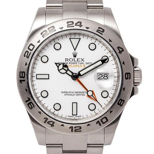 Rolex Explorer II 42mm White Dial Oyster Bracelet Automatic Waterproof Watch