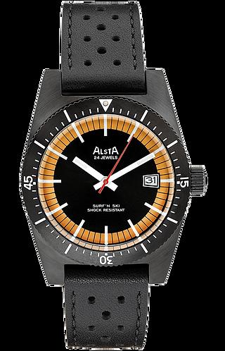Alsta surf n ski black automatic gents divers watch
