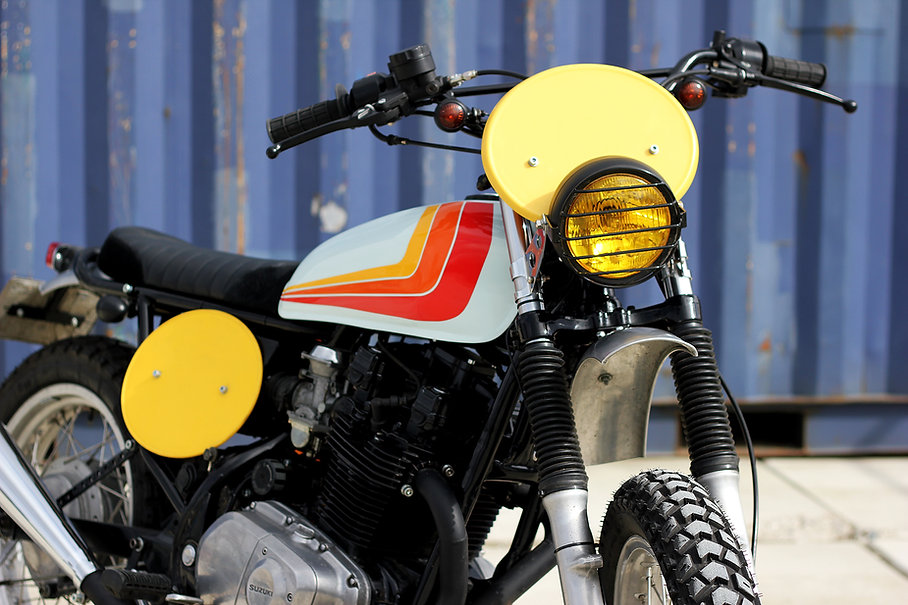 cool kid customs suzuki gr650 scrambler nederland