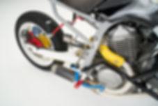 cool kid customs custom honda transalp warmachine exhaust nederland