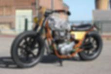 cool kid customs yamaha xs650 bratstyle skateboard customs motorcycle amsterdam scrambler bratstyle