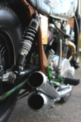 cool kid customs yamaha xs650 bratstyle skateboard customs motorcycle