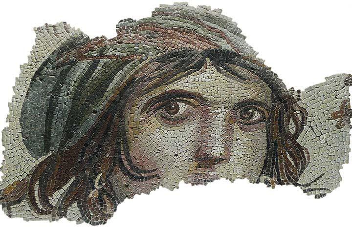 Gypsy Girl mosaic, Zeugma Mosaic Museum, Turkey