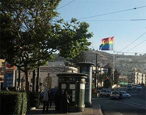 Rainbow flag, Castro District, San Francisco