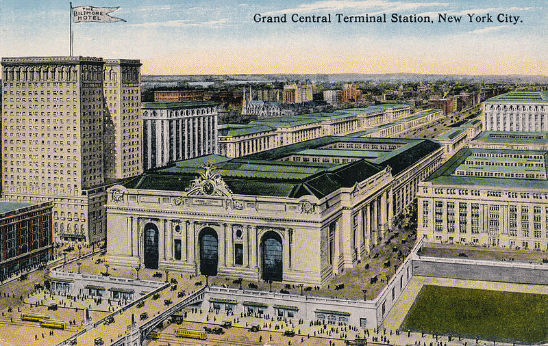 Birds' eye view of Grand Central Station, New York City