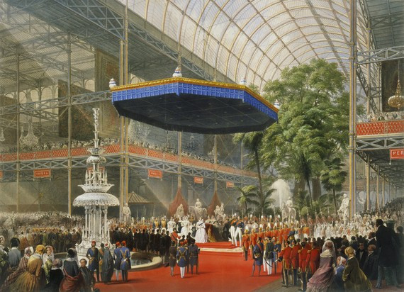 Lithograph, 1851 Great Exhibition in the Crystal Palace, London