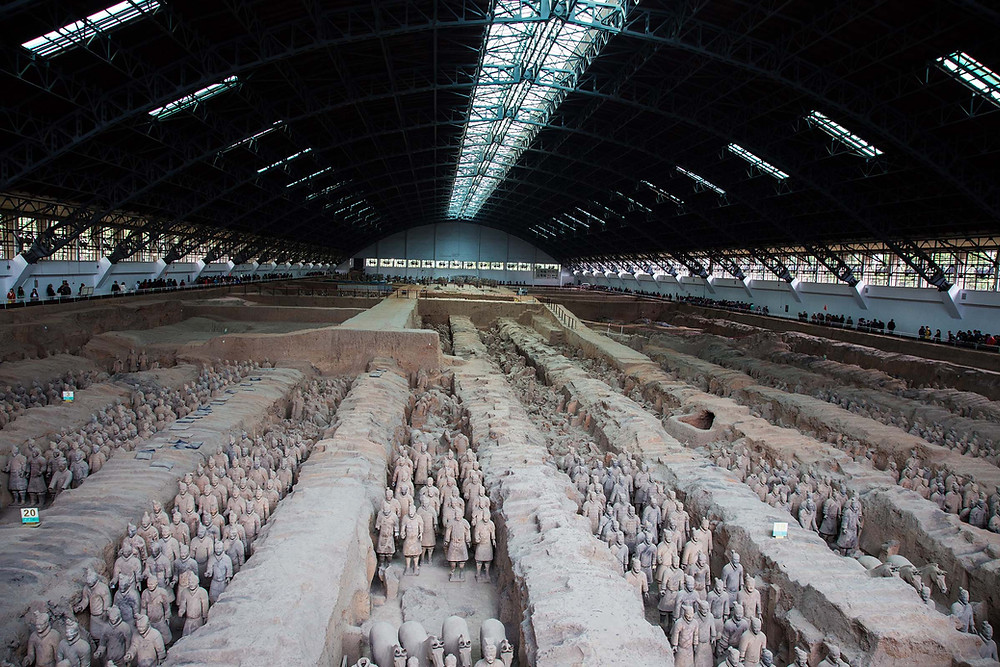 Emperor Qin's Tomb, terra cotta soldiers, Xi'an, China