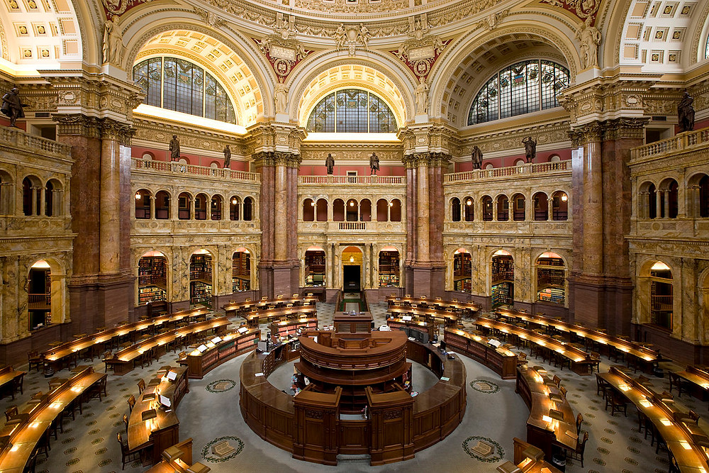 Main Reading Room, Library of Congress, Washington, DC