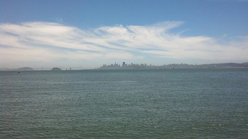 San Francisco skyline across the San Francisco Bay