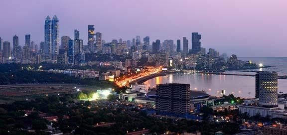 Mumbai skyline, Indiai, 2017