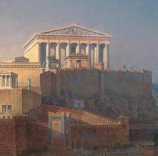 Parthenon 1846 painting, Athens, Greece