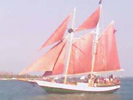 Tall ship off of Key West, Floridas