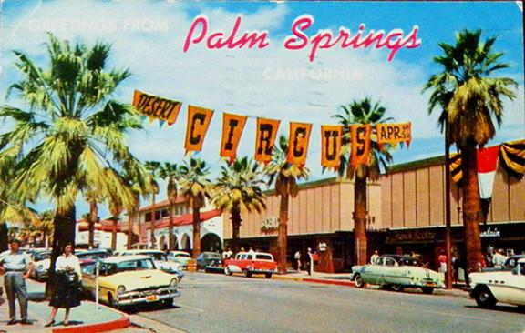 1950s postcard of Palm Springs, California