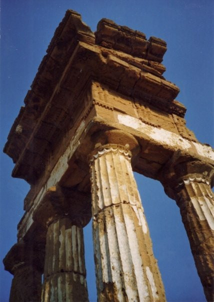 Greek temple ruins at Agrigento, Sicily